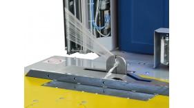 Automatické uchycení, řezání a založení fólie (Spinny S 500)